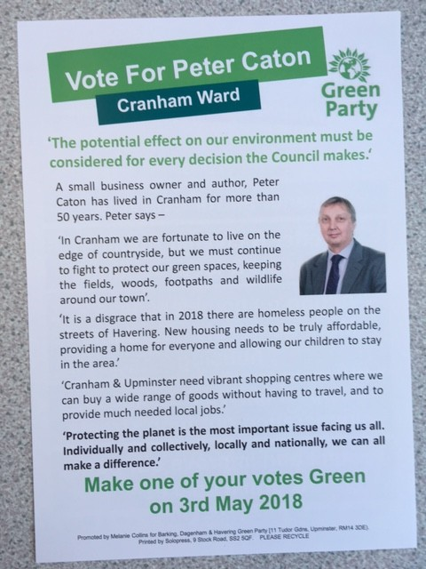 Proud to be Standing for the Green Party